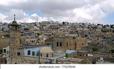 View from a rooftop in Hebron, West Bank, Palestine
