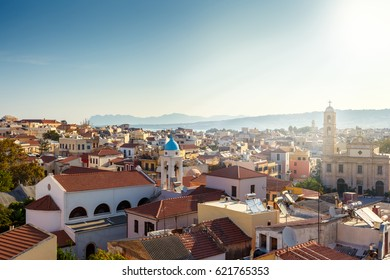 View of the rooftops of Chania city. Greece. Crete.