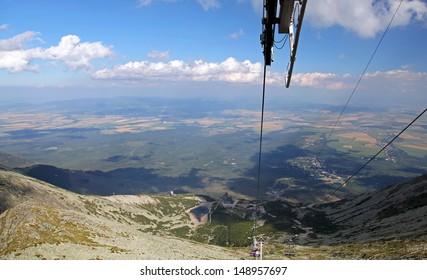 View from ropeway to peak Velka Lomnicka veza - High Tatras mountains, Slovakia  - Shutterstock ID 148957697