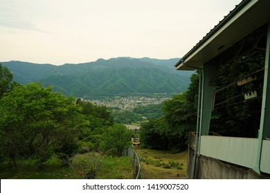 View from ropeway staion at Mt.Hotosan in Chichibu, Saitama, Japan.