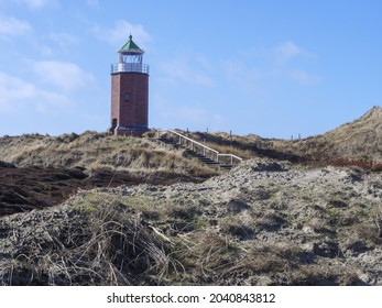 A view of the Rotes Kliff Lighthouse on Sylt island, Germany