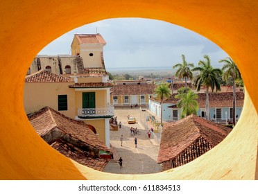 View from the round window of San Francisco Church in Trinidad, Cuba