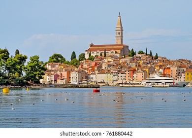 View of Rovinj downtown in the Summer