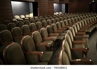 View rows of seats in the theater