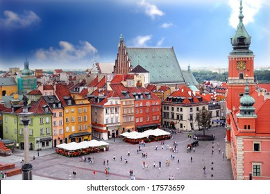 View of Royal Castle in Warsaw Poland
