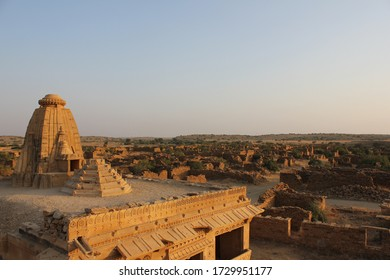 A view of the ruins of the abandoned Kuldhara Village near Jaisalmer in Rajasthan, India