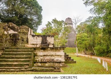 View at the Ruins of Ancient City Tikal,Guatemala