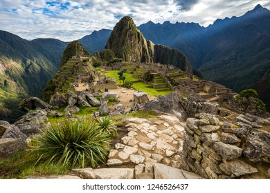 View of the ruins of Machu Picchu