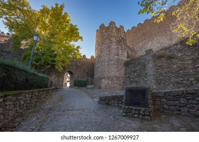 View of the ruins of the Montanchez Castle located in Caceres. E