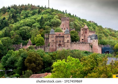 view of the ruins of an old German castle Wertheim