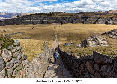 View of the ruins of Sacsayhuaman. Cusco, Peru.