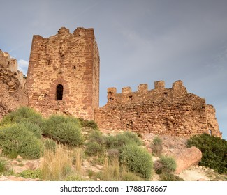 View of the ruins of the Serra castle, in the province of Valencia. Valencian Community. Spain