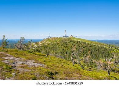 View of The Rukatunturi hill and skiing resort, Ruka, Kuusamo, Finland - Shutterstock ID 1943801929