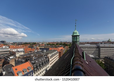 View from Rundetaarn, Copenhagen, Denmark - 24 Jun 2018: The Round Tower (Rundetaarn) is a 17th-century tower located in central Copenhagen.