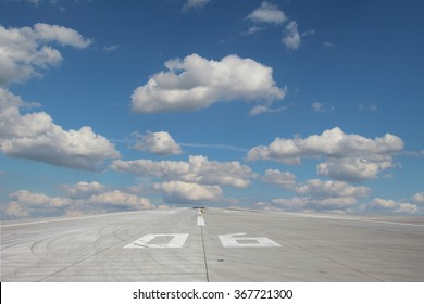 View of the runway threshold 06 of Prage Airport