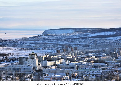 View Of the Russian city of Magadan, located on the edge of Eurasia and has a rich history associated with the development of The Russian North
