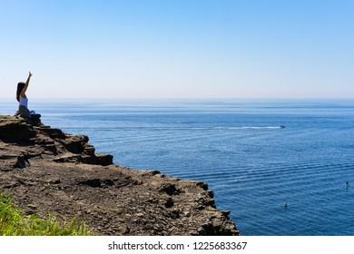 View of Russkii island