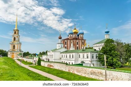 View of Ryazan Kremlin, the Golden Ring of Russia