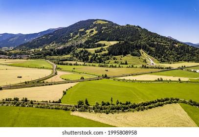 view at Saalfelden - Steinernes Meer Mountains - austria - Shutterstock ID 1995808958