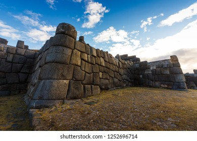 View of Sacsayhuaman ruins outside of Cusco, Peru
