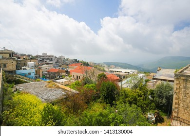 View of Safed, a city in the Northern District of Israel. Located at an elevation of 900 metres, Safed is the highest city in the Galilee and in Israel