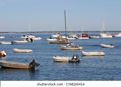 A view of sailboats in a marina in Provincetown, Massachusetts