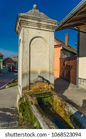 View at Saint Andrew drinking fountain in Sremski Karlovci, Serbia