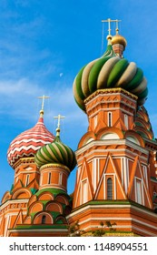 A view of Saint Basil's Cathedral in the morning, Red Square, Moscow, Russia