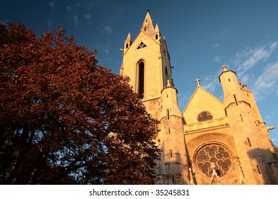 View of Saint Jean de Malte's church in Aix-en-Provence, France