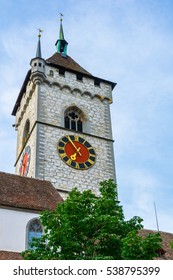 View of the saint Johann church situated in the swiss city Schaffhausen