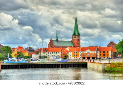 View of Saint Olaf Church in Helsingor - Denmark