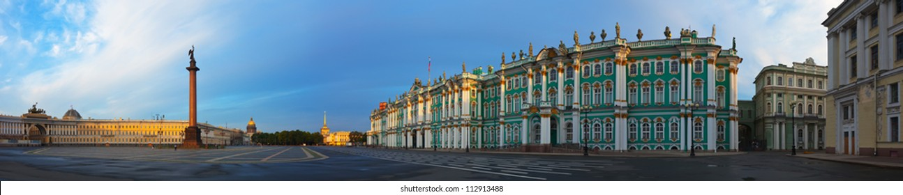 View of Saint Petersburg. Panorama of  Palace Square