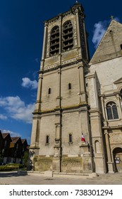 View of Saint-Nizier church. Church of Saint-Nizier - Catholic Church located in Troyes, dedicated to Nizier of Lyon. The current building dates from the XVII century. Aube Champagne-Ardenne, France.