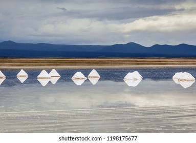 View of Salar de Uyuni. This is the largest salt flat in the World (UNESCO World Heritage Site) - Altiplano, Bolivia, South America