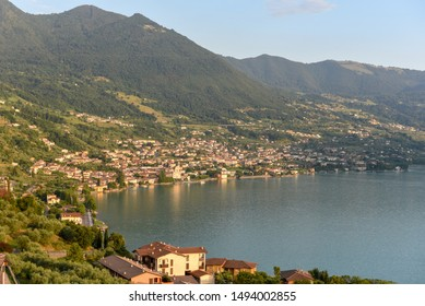 View at Sale Marasino on Iseo Lake in Italy