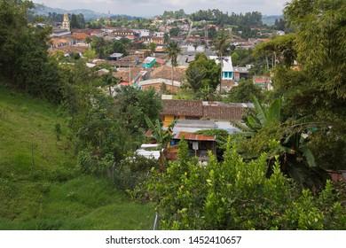 View of Salento from Mirador Alto De La Cruz