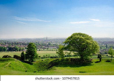 View Of Salisbury From Old Sarum In Spring Season, Salisbury, England