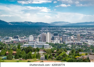 View of Salt Lake City, Utah on a sunny day