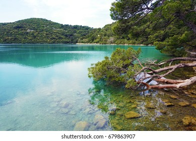 A view of a salt lake in the Mljet National Park in Croatia. On May 9, 2017