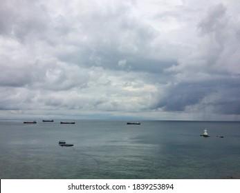 View of Samae San to the sea Chonburi, Thailand