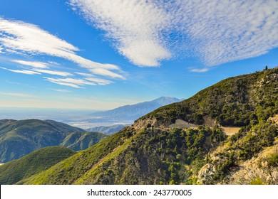 view from the San Bernardino Mountains