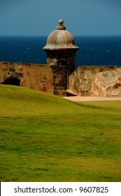 A view from San Felipe del Morro Fortress, San Juan, PR, USA. The only castle never taken by force in the history of warfare.