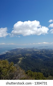 View of the San Francisco Bay Area from the East Summut of Mt. Tamaplais, California