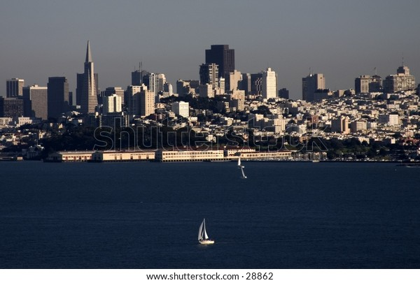 View of San Francisco from the Golden Gate Bridge