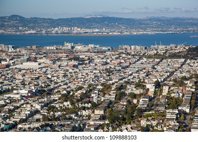 View of San Francisco from a high hill