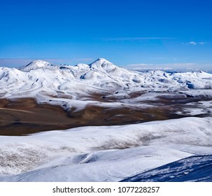 View from San Francisco Mount, The six thousand peaks road, San Francisco Pass.  The pass connects the Argentinian province of Catamarca with the Atacama Region in Chile