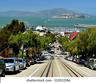 view from San Francisco street to Alcatraz