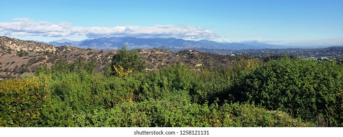 View of the San Gabriel Mountains from Griffith Park, Los Angeles