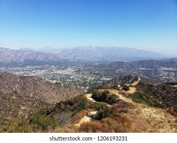 View of the San Gabriel Mountains from Mt. Thom, Los Angeles