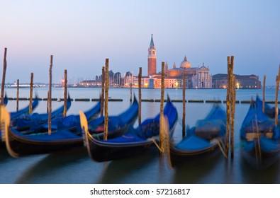 View to San Giorgio Maggiore at dawn, Venice, Italy